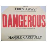 3 Old Vintage Cardboard Railroad Signs