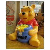 Contents on top shelf- Winnie The Pooh Bank, Tiki Glass Mug, etc.