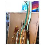 3 Large Vintage Archery/Hunting Bows & MANY Arrows