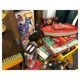 Contents of Wooden Dresser & Round Table