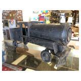 Large Antique Pressed Steel Ride-On Locomotive Train Engine