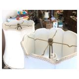 Matching Pair of Vintage STIFFEL Brass Table Lamps
