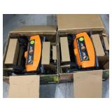Lot of 2 18 in. Cut Manual Push Non-Electric Walk Behind Reel Mower by Fiskars Customer Returns See Pictures