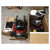 Lot of 2 Recycler 21 in. Briggs and Stratton Low Wheel RWD Gas Walk Behind Self Propelled Lawn Mower with Bagger by Toro Customer Returns See Pictures