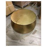 Calluna 31 in. Gold Medium Round Metal Coffee Table with Lift Top by Home Decorators Collection Customer Returns See Pictures