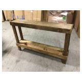 59 in. Dark Walnut Standard Rectangle Wood Console Table with Storage by Del Hutson Designs Customer Returns See Pictures