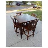 High Table & Four Chairs