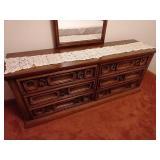 6 Drawer Vintage Dresser/Mirror