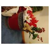 Huge Lot of Wreaths, Garland & Candles