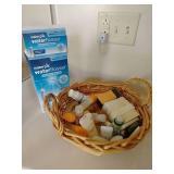 Waterpik & Basket of Toiletries