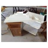 Rolling Cart, Stand & 5 White Shelves