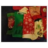 Tote of Christmas Linens