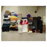 Box of Winter Scarves, Gloves & Hats