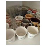 Countertop of Glasses, Mugs, Bowls, Etc.