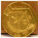 ULTRA RARE Pablo Picasso 23k Poissons Medallion w Box 7 of only 20 made