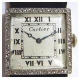 Art Deco Cartier Diamond Ladies Watch