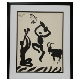 Pablo Picasso singed Goat Dance Lithograph