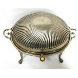 Antique Sheffield Silverplate Banquet Warmer with Steam Tray