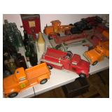 Antique mint condition metal toy tonka  trucks fire trucks rare roadwork trucks