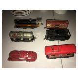 Antique tin trainset