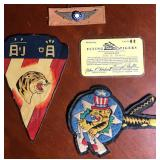 Flying Tigers Patches, ID & Wings