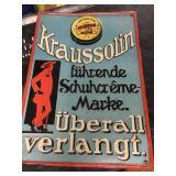 Original German Advertising Sign