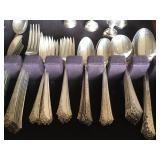 Heirloom Damask Rose Sterling flatware set