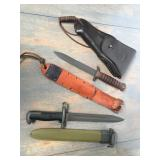 USMC holster, Ka-Bar knife...