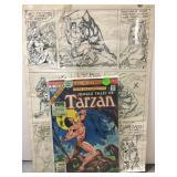 Original Tarzan comic book art