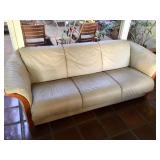 Comfy Leather Couch & Chair