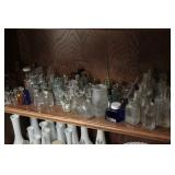 Vintage and older glass bottles