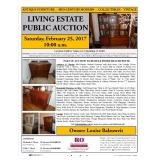 LIVING ESTATE PUBLIC AUCTION