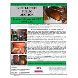 MULTI-ESTATE PUBLIC AUCTION