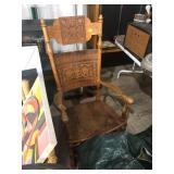 antique rockign chair