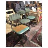 industrial mid century bar stools