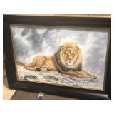 lion oil painting