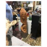 Huge large indian carving