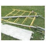 Scaffolding w/ walk boards
