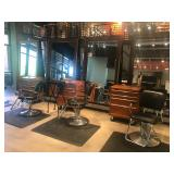 Salon Chairs, Mirrors, Pads, Craftsman Carts