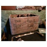 The Peoples brewery bottles and box