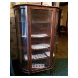 "Curio Cabinet 58"" H, by 36"" L by 14"" 3/4 W"