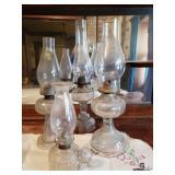 Glass Hurricane Oil Lamps