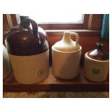 Whiskey Jugs all sizes