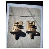 Vintage Solid Bronze Pair of Water Fountains