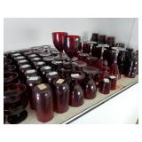 Ruby Red Glass sets