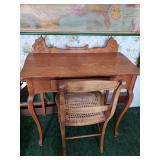 Antique Oak Desk and chair