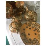Luster ware tea set