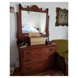 #150 Antique Mirrored Dresser $150.00