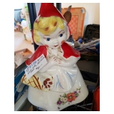 #139 Hull Little Red Riding Hood Cookie Jar $80.00