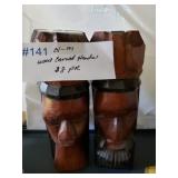 #141 Carved wood $8.00 pair
